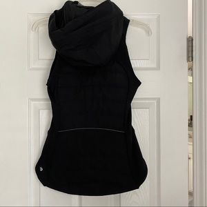 Beautiful Black Lulu Lemon vest with hood